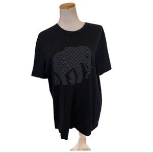 Banana Republic Navy Elephant Print Short Sleeve